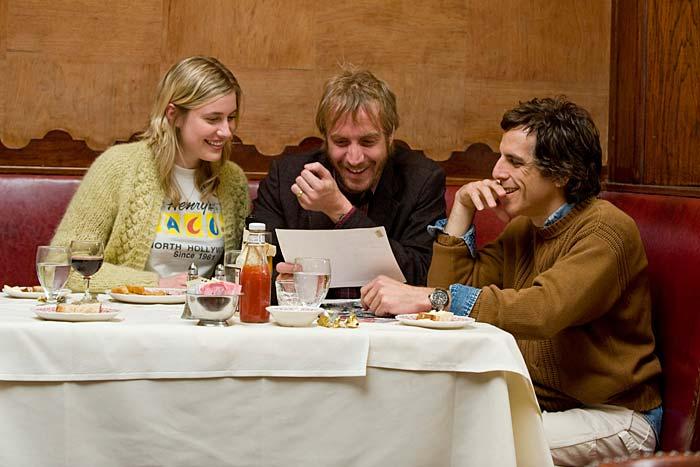 Greta Gerwig, Rhys Ifans och Ben Stiller i Greenberg. Foto: SF