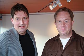 Johan Wester (Robert) och Anders Jansson (Morgan Pålsson). Esbjörn Guwallius/Film.nu