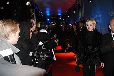 Röda mattan utanför biografen Rigoletto i Stockholm på torsdagskvällen. Kim Ekberg