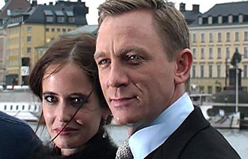 Eva Green tillsammans Daniel Craig på besök i Stockholm. Foto: Esbjörn Guwallius.