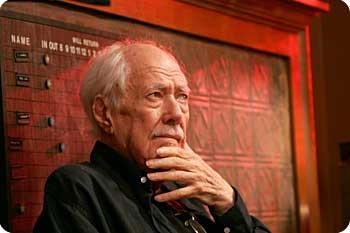 Robert Altman under inspelningen av A Prarie Home Companion. Foto: Berlinale.